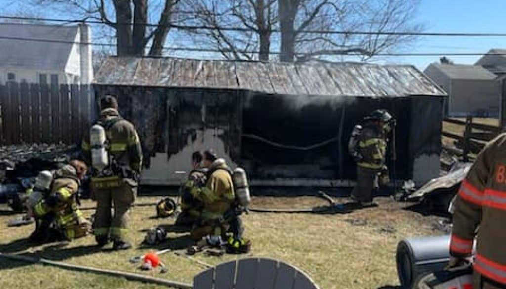 032121 Shed Fire